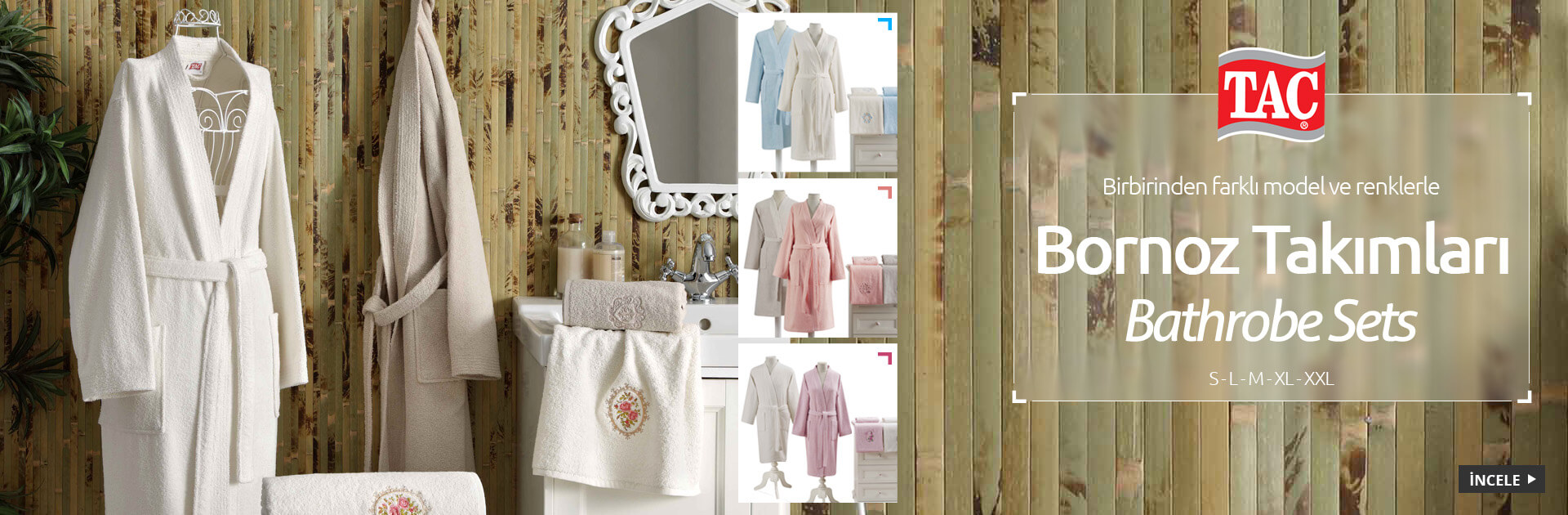 Bornoz Setleri Bathrobe Set